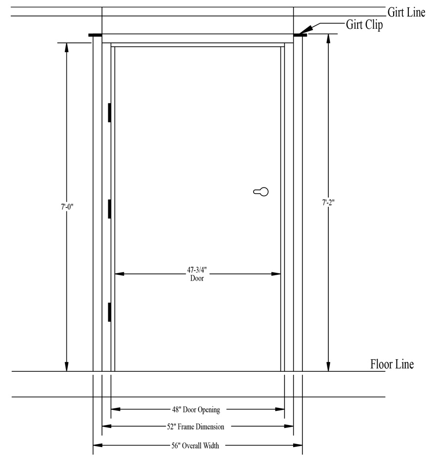 Standard interior door height rough opening for Door dimensions
