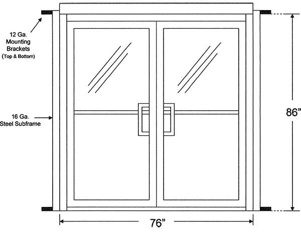 Glass Double Door measure rough opening for commercial glass storefront doors
