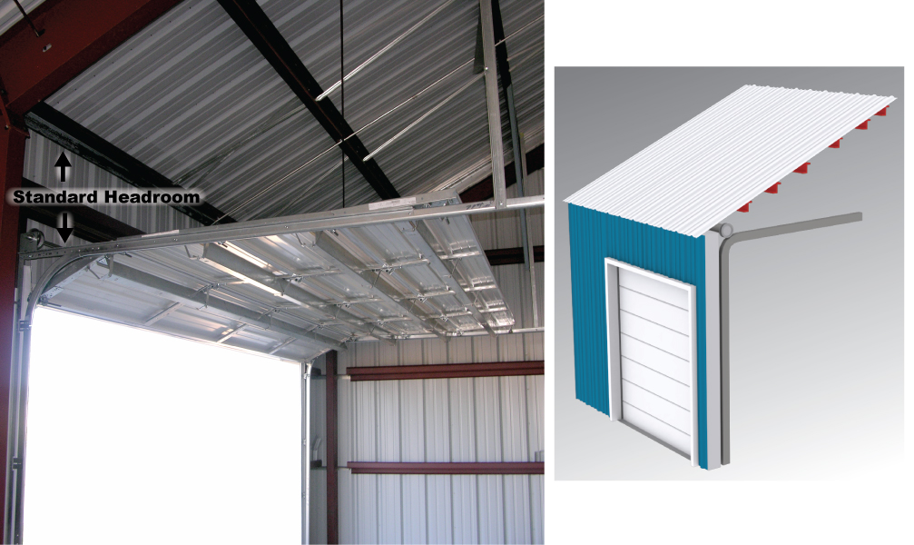Standard Door Lift ...  sc 1 st  Metal Building Doors & Overhead Door Lift Types for Overhead Door Tracks