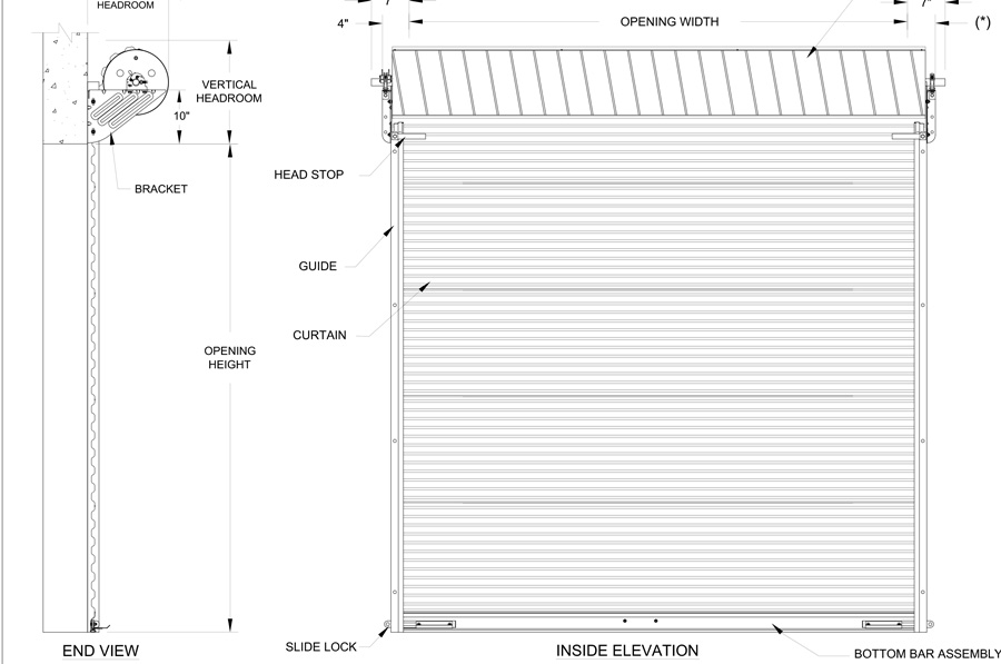 Metal Building Roll Up Doors