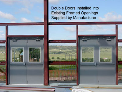 Steel Double Doors With Windows