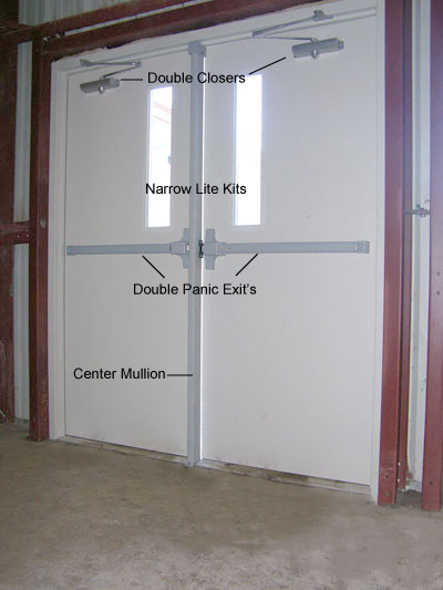 Double Steel Doors : Steel panic doors emergency exit with