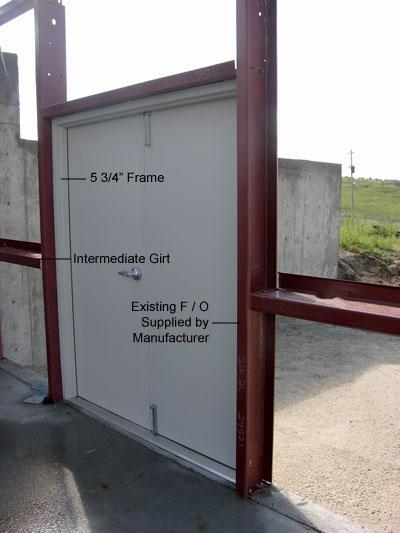 Preassembled steel walk doors man doors and entry doors - How to build an exterior door frame ...